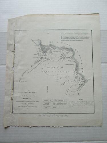 ONE (1) 1851 COAST SURVEY TRIAGULATIONS PLUS, CEDAR KEYS, COST OF FLORIDA