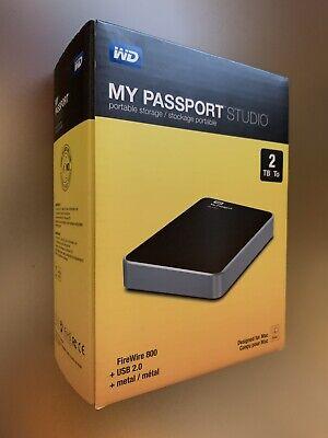 WD 2TB Studio 2TB FireWire 800 USB 2.0 BEST Hard Drive WDBU4M0020BBK-NESN *RARE*