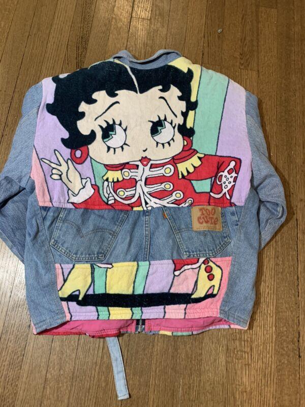 Betty Boop Jean Jacket Denim 90s Levis Too Cute Cartoon