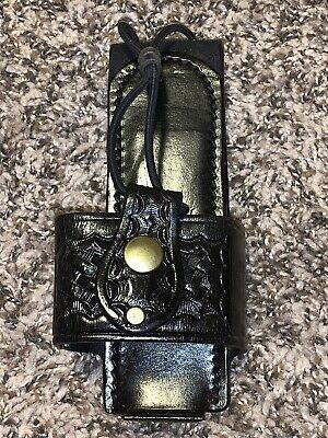 Duty Gear Safety Speed Holster Police Radio Holder Leather Basketweave