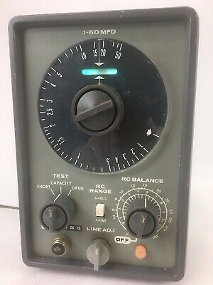Eico Model 955 In Circuit Or Out Of Circuit Capacitor Tester.powers On