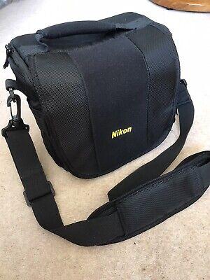 Nikon camera bag, holdall with rain cover