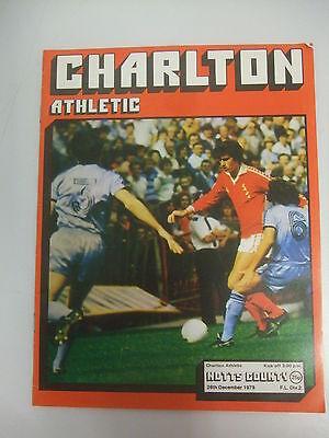 Charlton v Notts County - Div2 - 26th December 1979