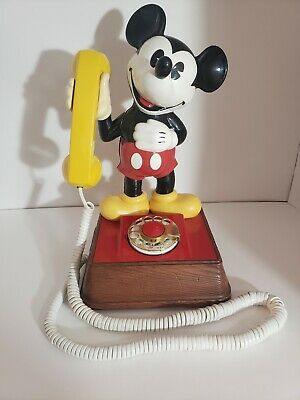Vintage Mickey Mouse Telephone - Rotary Dial Phone 1976