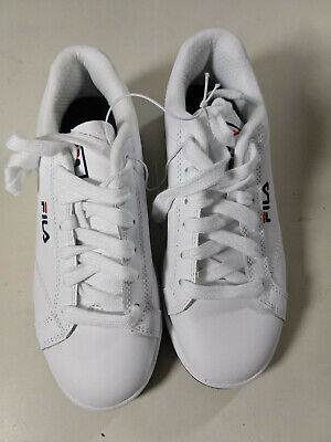 Fila Women's Reunion Leather Court Shoes Casual Sneaker White, NEW