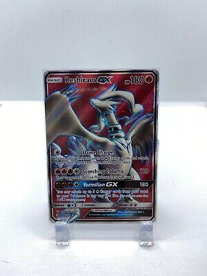 Reshiram GX 65/70 Pokemon Card Sun & Moon Dragon Majesty Full Art Ultra Rare