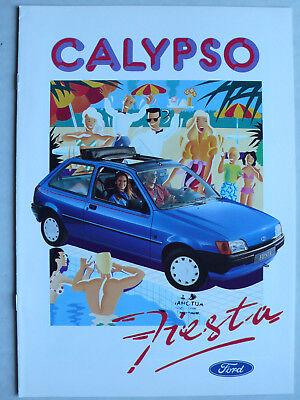 Prospekt Ford Fiesta Calypso, 4.1991, 8 Seiten