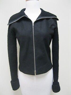 Lenai & Linai Lech Black Wool Sweater Coat Small, EUC