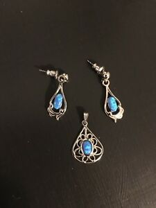 Earrings and Pendant Set