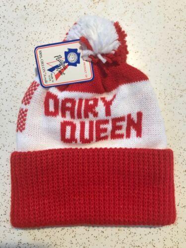 VTG 70s 80s Dairy Queen Soft Serve Ice Cream Knit Skit Winter Cap Beanie Hat