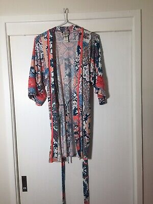 In Bloom By Jonquil Ladies Kimono Nightie Gown Size S Multicoloured Floral EUC