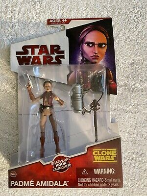 Star Wars The Clone Wars CW35 PADME AMIDALA with Grappling Hook NEW 2009