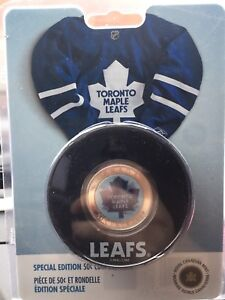 Royal Canadian mint Toronto maple leafs 50 cent holographic coin