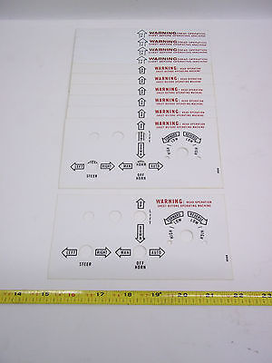 22009 Terex Forklift Decal - Control Box Operation Lot Of 11