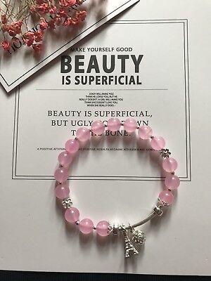 Original Design Handmade Pink Quartz Bracelet