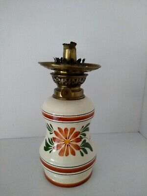Vintage pottery oil lamp 10