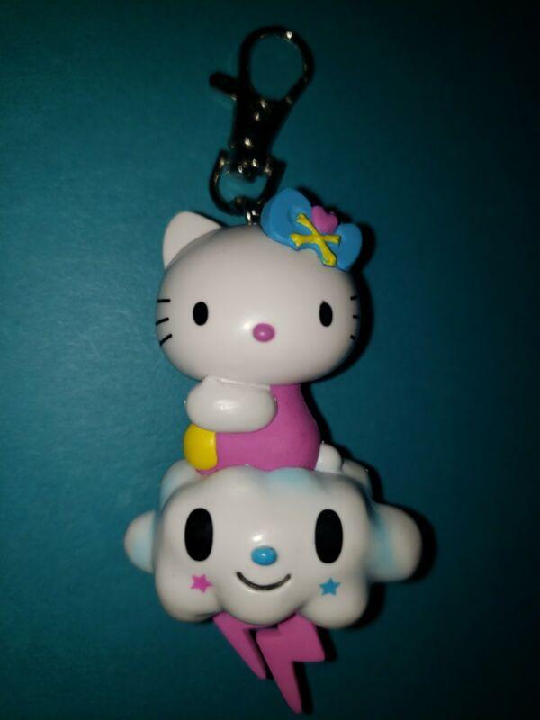tokidoki for Hello Kitty Vintage 2011 Hello Kitty Lightning Cloud Keychain-EUC!