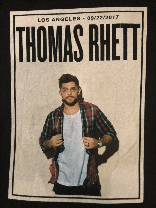 .ORG. Thomas Rhett Greek Theatre Los Angeles 09/22/17 SOLD OUT Adult T-shirt S