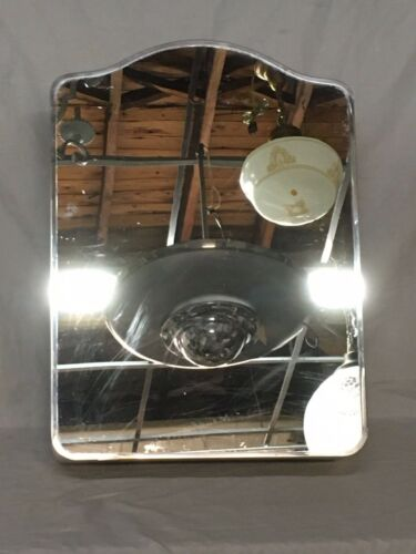 Vtg Mid Century Metal Medicine Cabinet Cupboard Arched Mirror Old Bath 227-20E