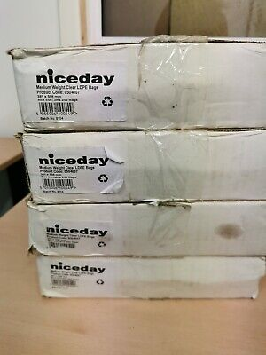 Viscount Clear Poly Bags 12x18 400g For Food Storage Packing /& Food Freezing 250