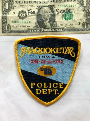 Maquoketa Iowa Police Patch (One of a kind) Un-sewn in great shape