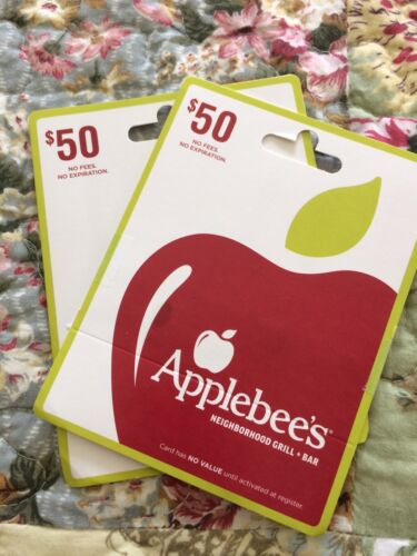 2- 50 Applebees Gift Cards - $93.00