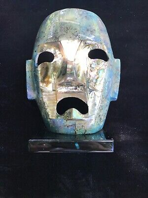 Used, Mayan Abalone Mosaic Burial Death Mask Mexico for sale  Fort Myers