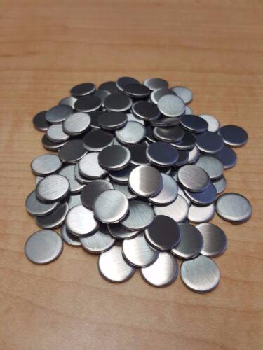 "10 Gauge 1/2"" Stainless Steel #4 Discs (Lot of 15)"