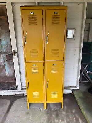 Vintage Metal Lockers Interior Steel Equipment Co. Cleveland Ohio