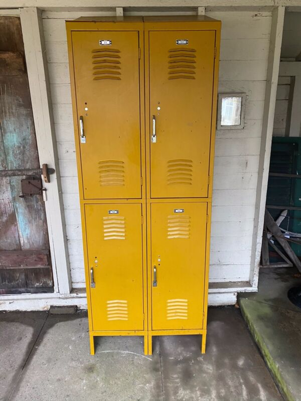 Vintage Metal Lockers Interior Steel Equipment Co. Cleveland Ohio