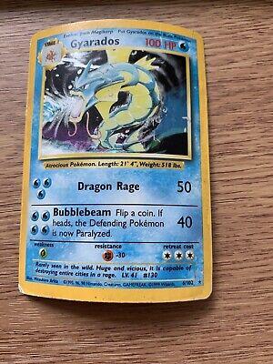 Gyrados Rare Holo 6/102 Base Set Pokemon Card WOTC 1st gen 1999