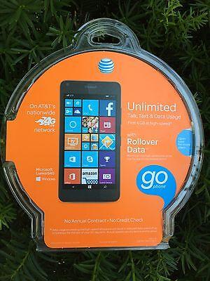 Microsoft Nokia Lumia 640 LTE AT&T/Cricket Wireless - 8GB - Black -  *SEALED*