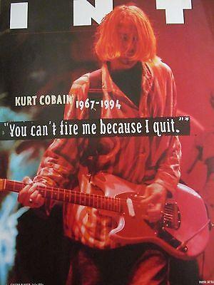 Kurt Cobain, Nirvana, Full Page Vintage Pinup