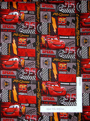 Disney Pixar Cars Fabric - Disney Pixar Cars McQueen Piston Cup Speed Cotton Fabric CP11640 By The Yard