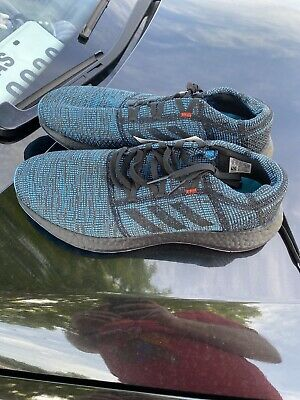 Adidas Pure Boost Go Ltd Black Shock Cyan D97425 Men Sz 11