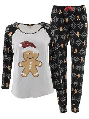 Personalized Mens Pajamas (Not a Morning Person Juniors Gray Black Christmas Gingerbread Man Jogger)