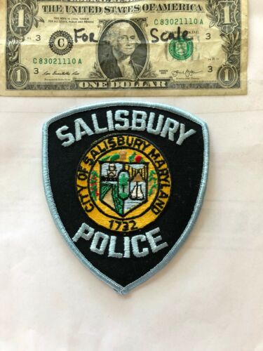 Salisbury Maryland Police Patch un-sewn in mint shape