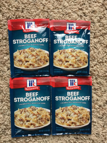 4 McCormick Beef Stroganoff Sauce Mix - 1.5 oz (42g) - Best By:  04/23/2021