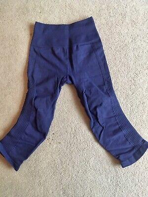 Lululemon Navy Cropped Leggings Size US4 UK 8