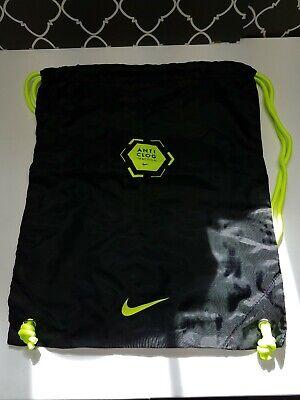 New Nike Mercurial Anti Clog Black / Green Dust Bag Soccer Cleats String -
