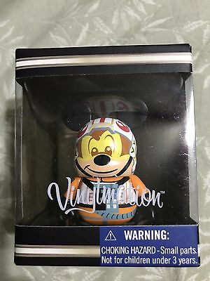 "DISNEY VINYLMATION 3"" STAR WARS CHARACTERS MICKEY MOUSE X-WING PILOT"