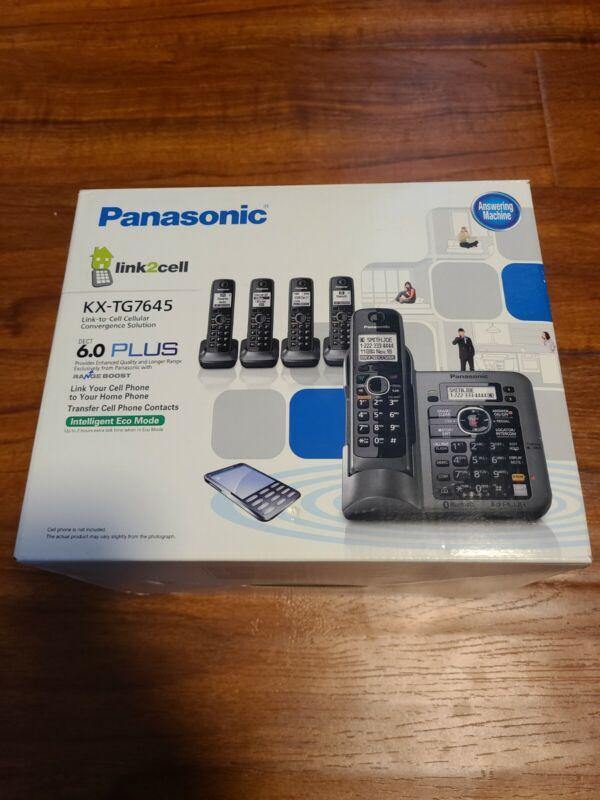 Panasonic Link2cell Kx-tg7645 1.9ghz Cordless 6.0 Plus Phone Bluetooth