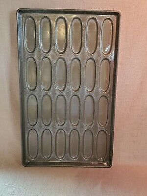 Lot Of 5 Commercial Ekco Hot Dog Bun Baking Pans 2 Types 82 P-7240