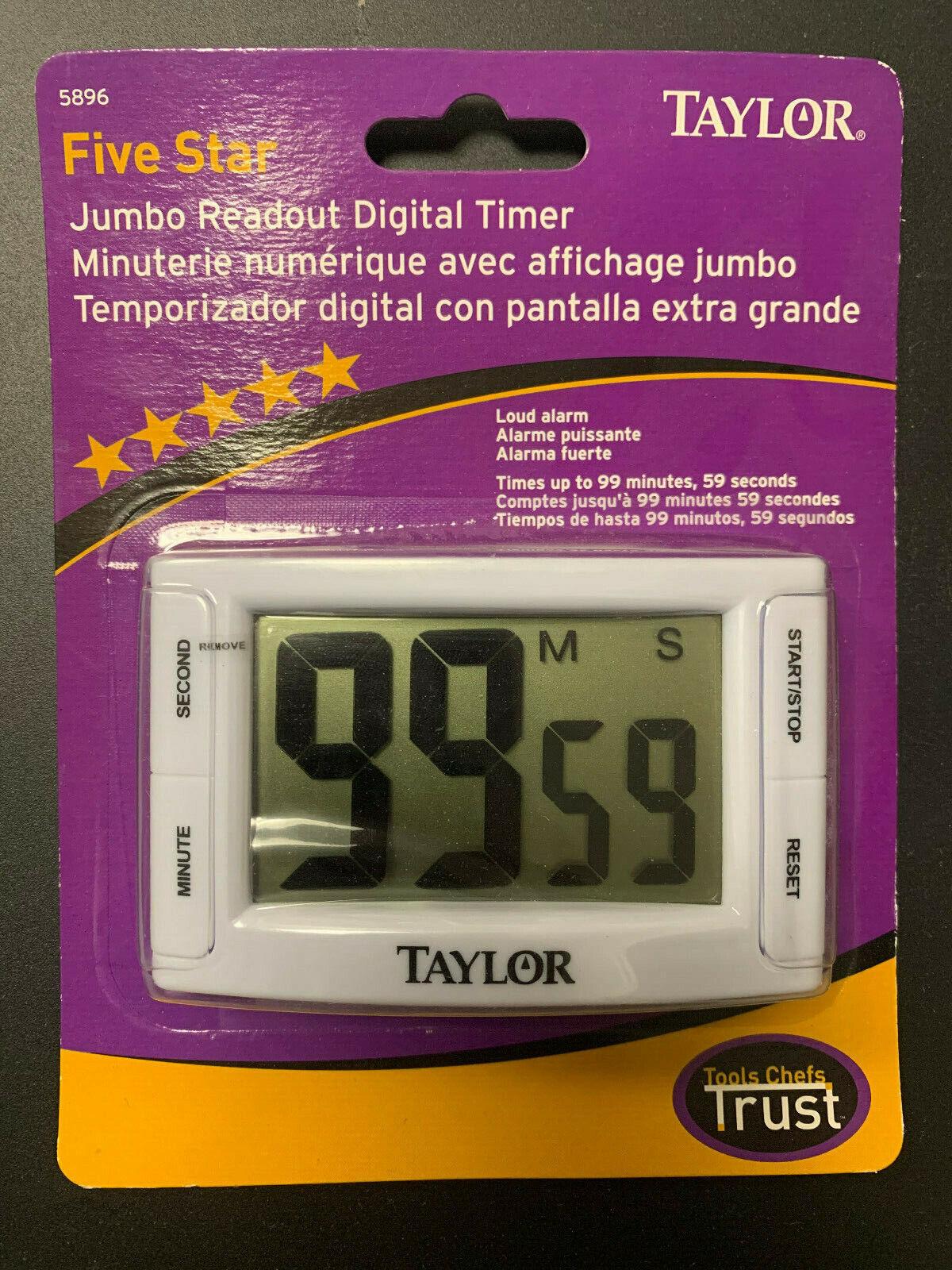 TAYLOR FIVE STAR JUMBO READOUT DIGITAL TIMER ** BRAND NEW **
