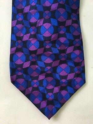 Gianni Versace men's neck tie purple silk made in Italy