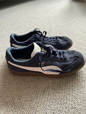 Puma Men's Navy Suede Liga Trainers Size 10.5 Immaculate Condition
