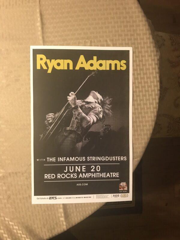 Original Ryan Adams Infamous Stringdusters Red Rocks Concert Poster RARE
