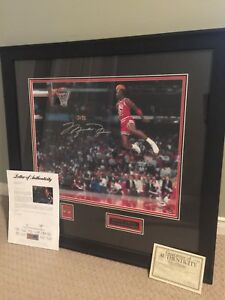 Autographed Michael Jordan framed photo