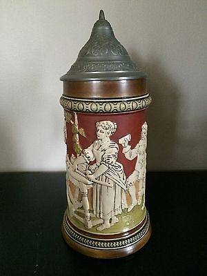 1/2L Hauber And Reuther HR Beer Stein 455