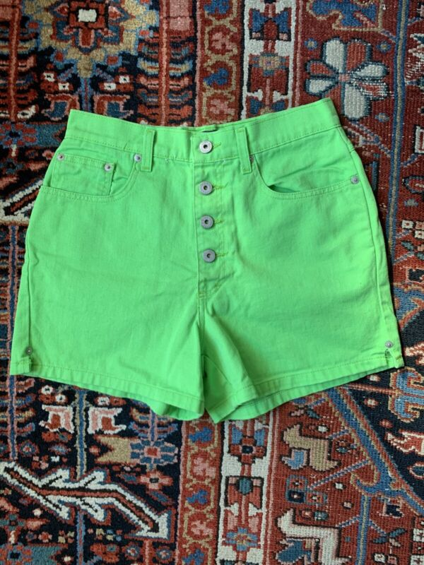 Vintage High Waisted L.A. Blues Lime Green Shorts